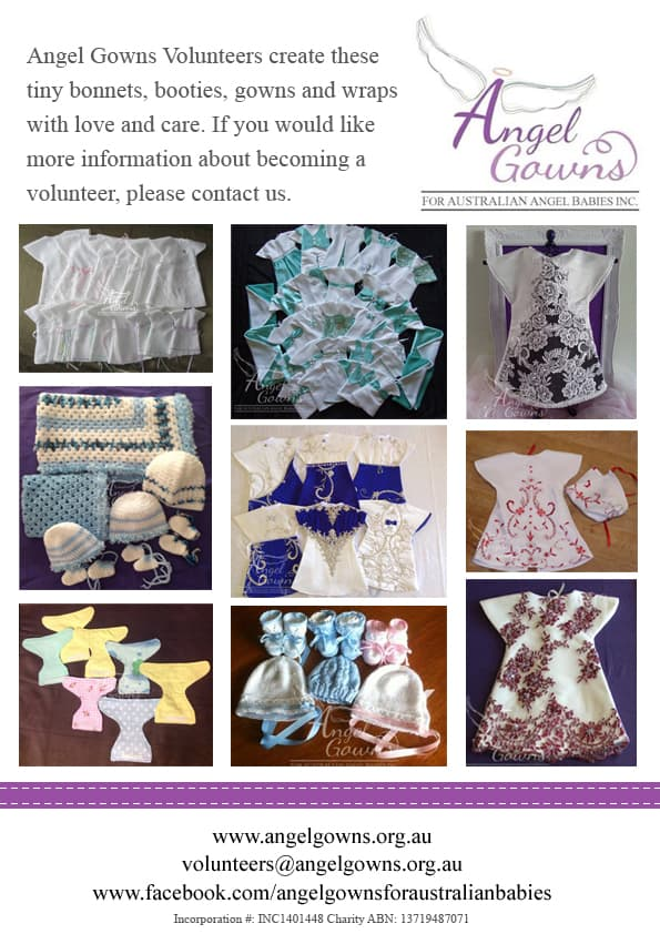 Angel Gowns - For Australian Angel Babies | Volunteering