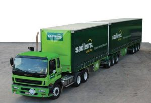 Sadliers transport truck